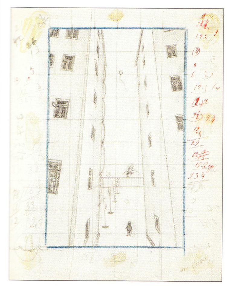 Шар улетел. Графический эскиз. 1927