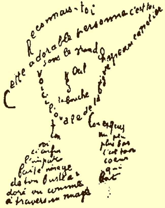 «Стих для Лу» из цикла «Каллиграмы». 1915