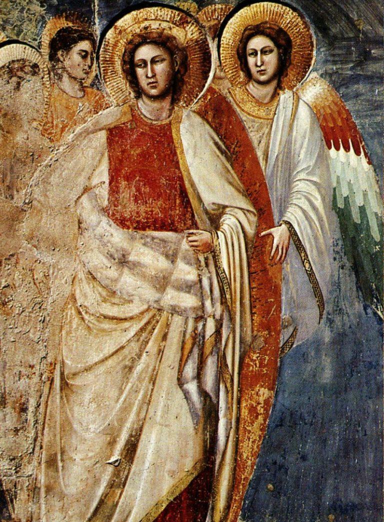 Страшный суд. Фрагмент. Ангелы. 1303–1305