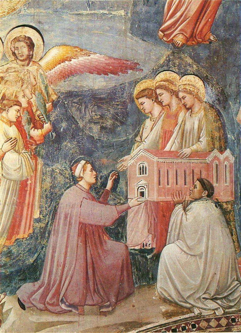 Страшный суд. Фрагмент. Портрет Энрико Скровеньи. 1303–1305