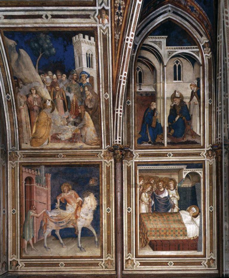 Сцены из жизни св. Мартина Турского. 1313–1318