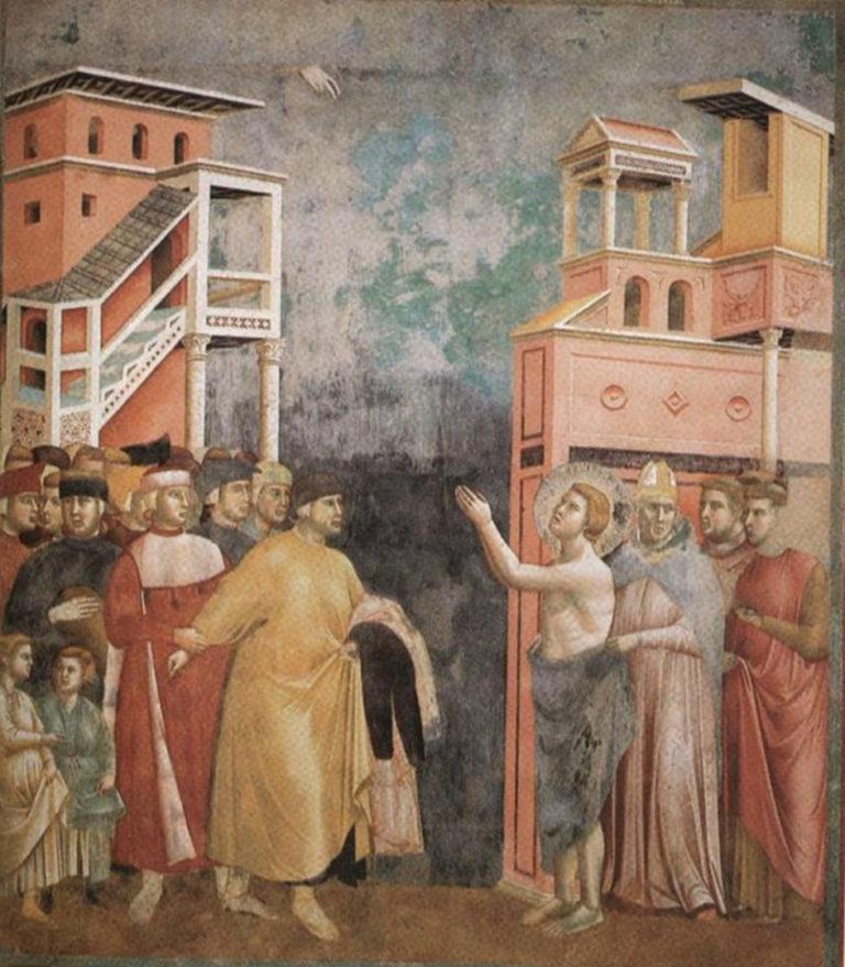 Св. Франциск отрекается от отца и имущества. Ок. 1296–1304