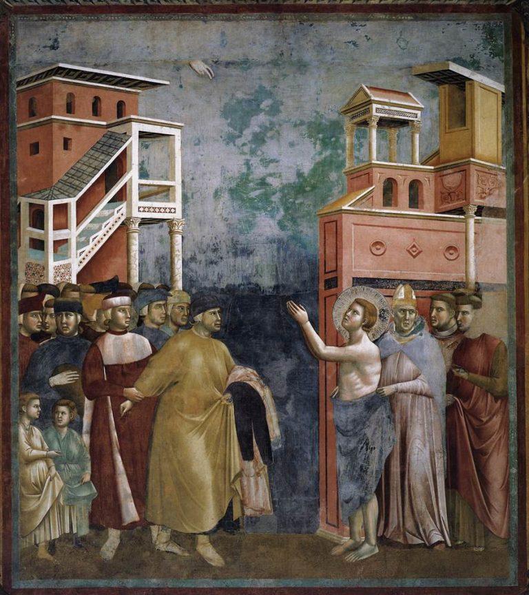 Св. Франциск отвергает все мирские блага. 1297 - 1299