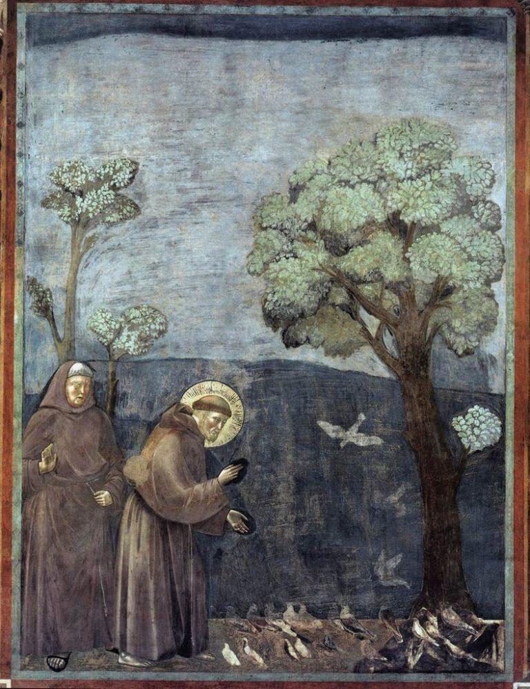 Св. Франциск проповедует птицам. Ок. 1296–1304