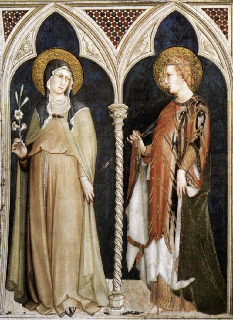 Св. Клара и св. Елизавета Венгерская. 1313–1318