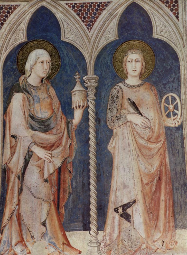 Св. Мария Магдалина и св. Екатерина Александрийская. 1313–1318