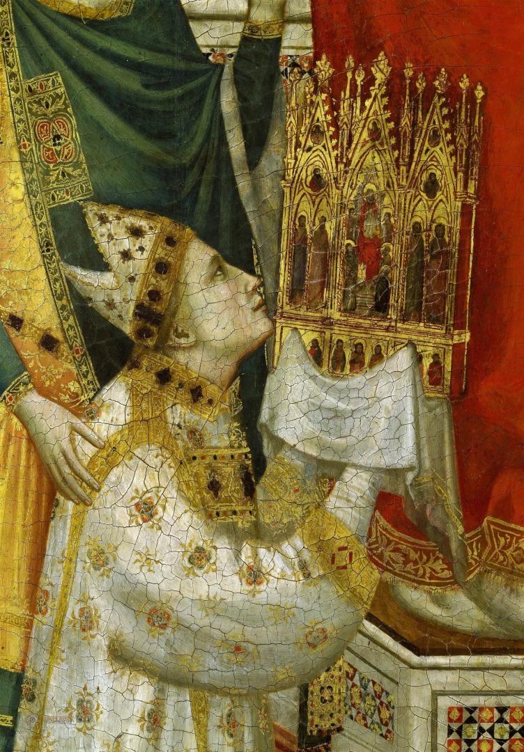 Триптих Стефанески. Фрагмент. Кардинал Стефанески. Ок. 1330