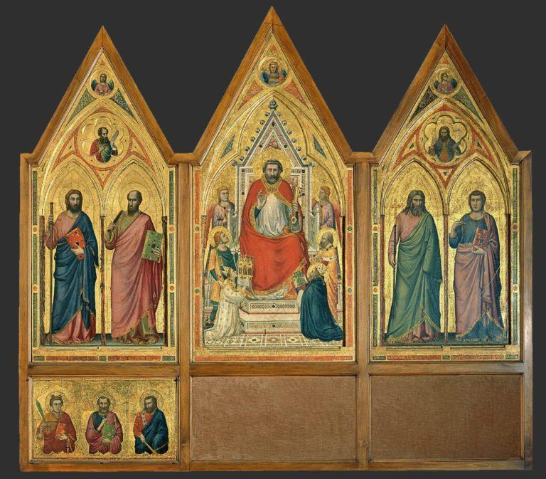 Триптих Стефанески. Оборотная сторона. Ок. 1330