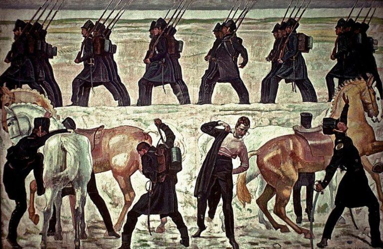 Уход йенских студентов на освободительную войну против Наполеона в 1813 году. 1908–1909