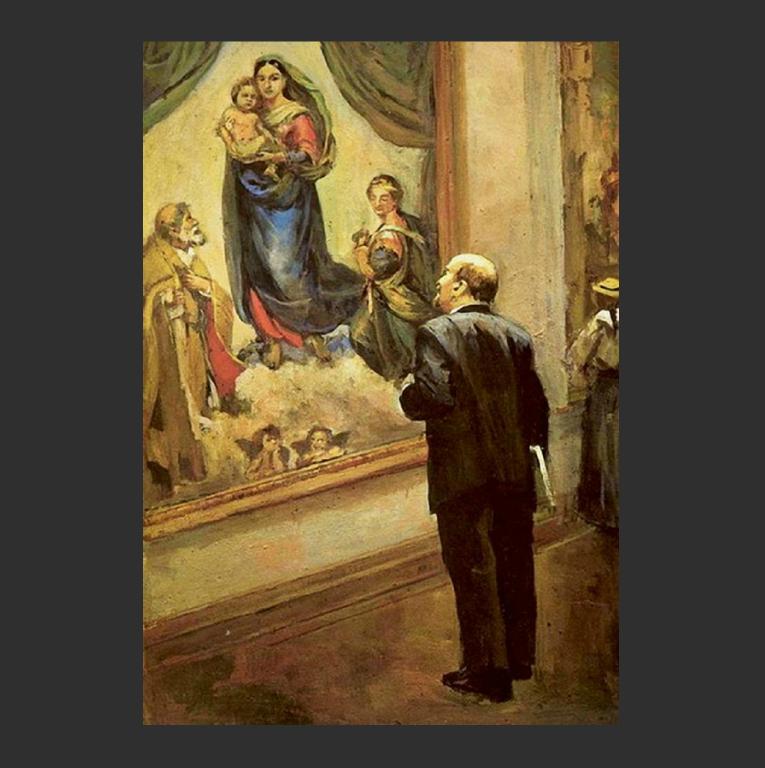 В. И. Ленин в Дрезденской галерее в 1914 году