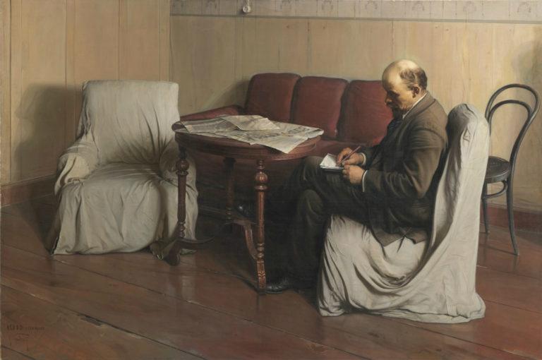 В. И. Ленин в Смольном. 1930