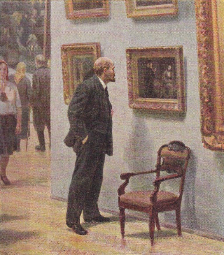 В. И. Ленин в Третьяковской галерее. 1957