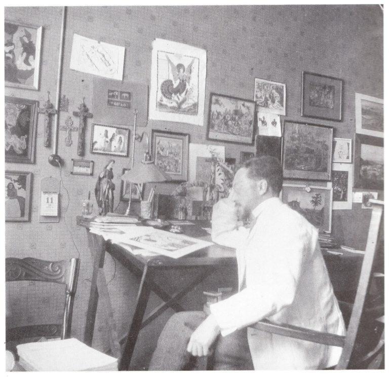 Василий Кандинский в мастерской. 1911