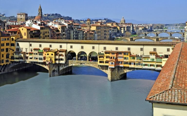 Вид на Понте-Веккьо. Флоренция, Тоскана