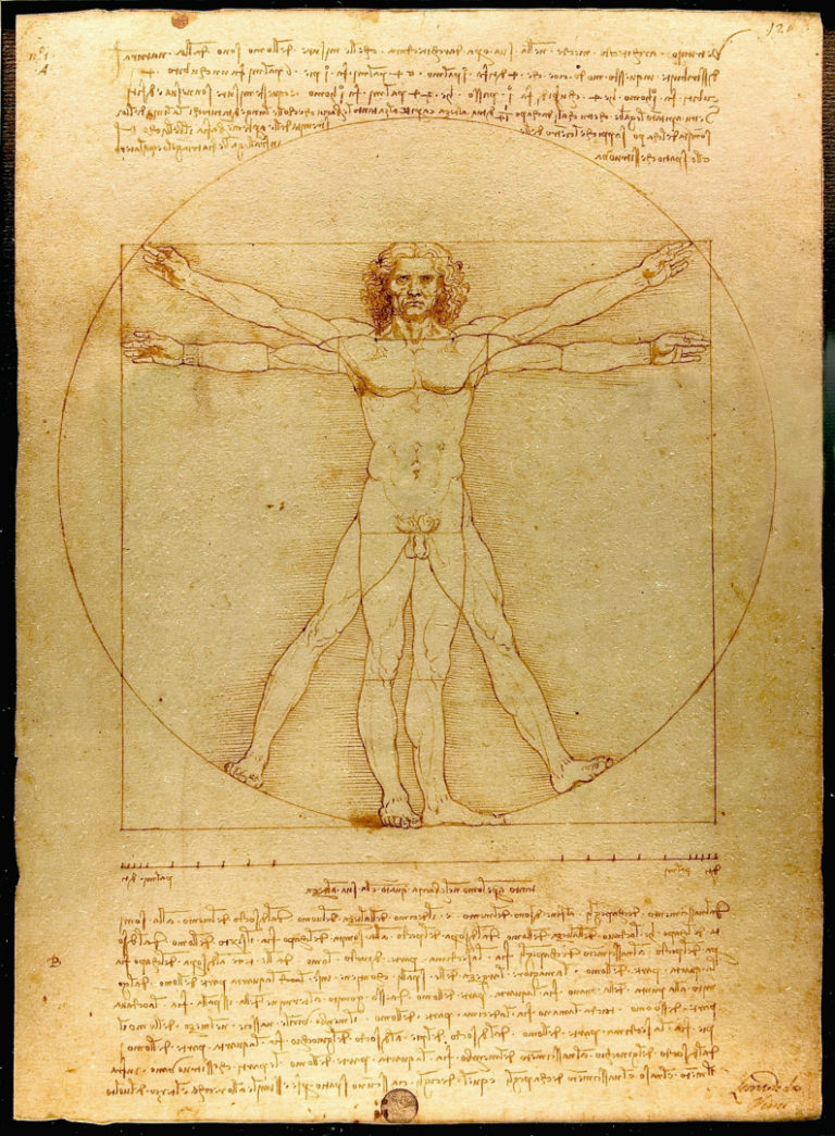 Витрувианский человек. Ок. 1490
