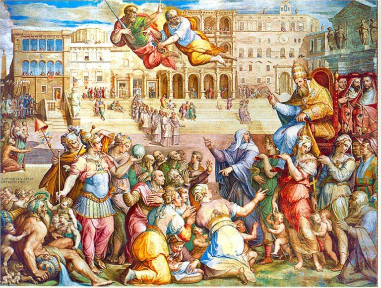 Возвращение папы Григория XI в Рим из Авиньона. XVI в.