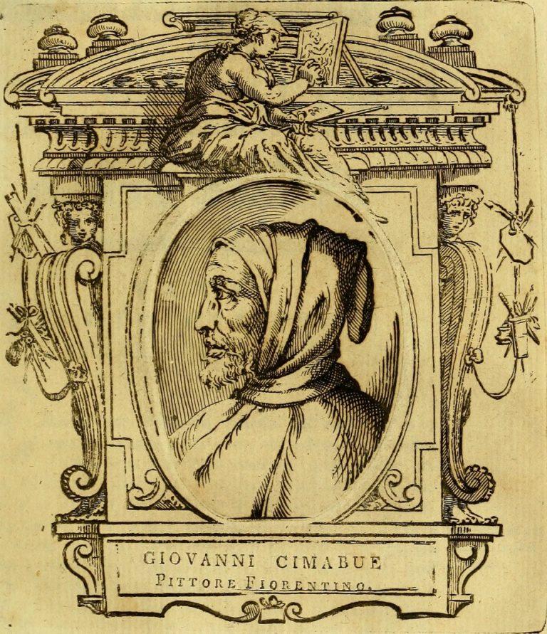 Вымышленный портрет Чимабуэ (итал. Cimabue, 1250–1302). 1767