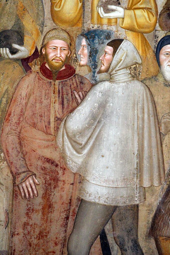 Вымышленный портрет Джотто (справа). 1363–1365