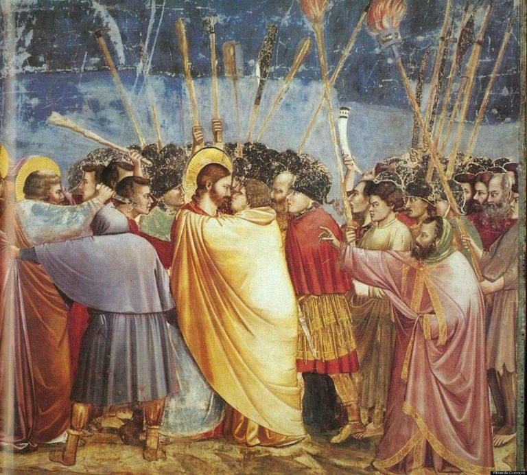 Взятие Христа под стражу (Поцелуй Иуды). 1303–1305
