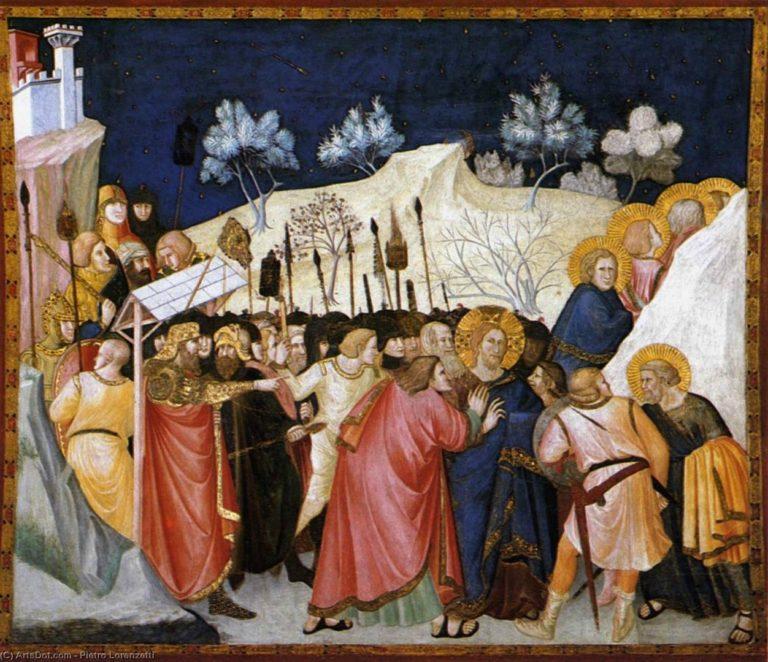 Взятие Христа под стражу. 1320