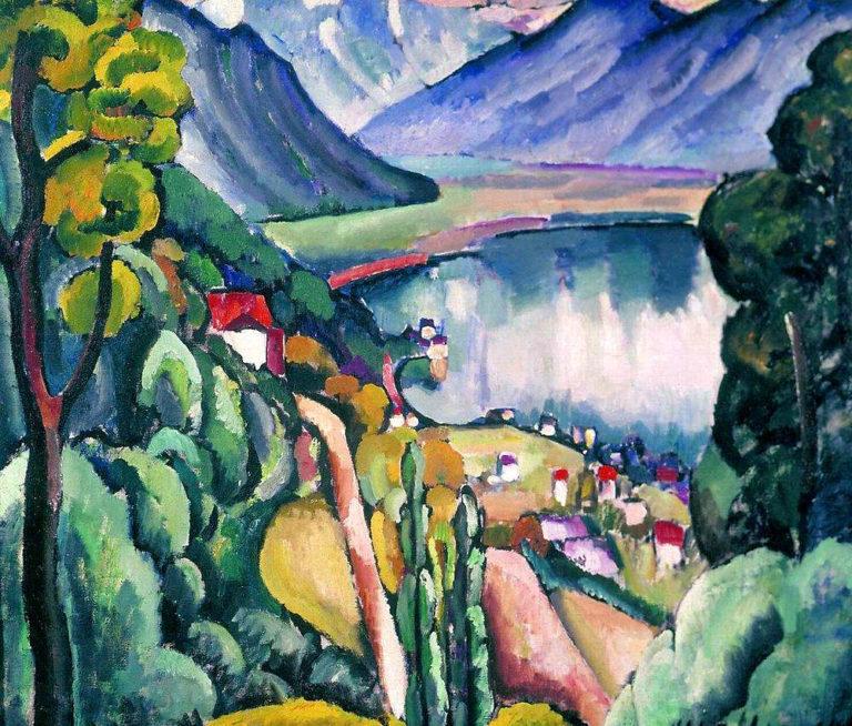 Женевское озеро. Глион. 1914