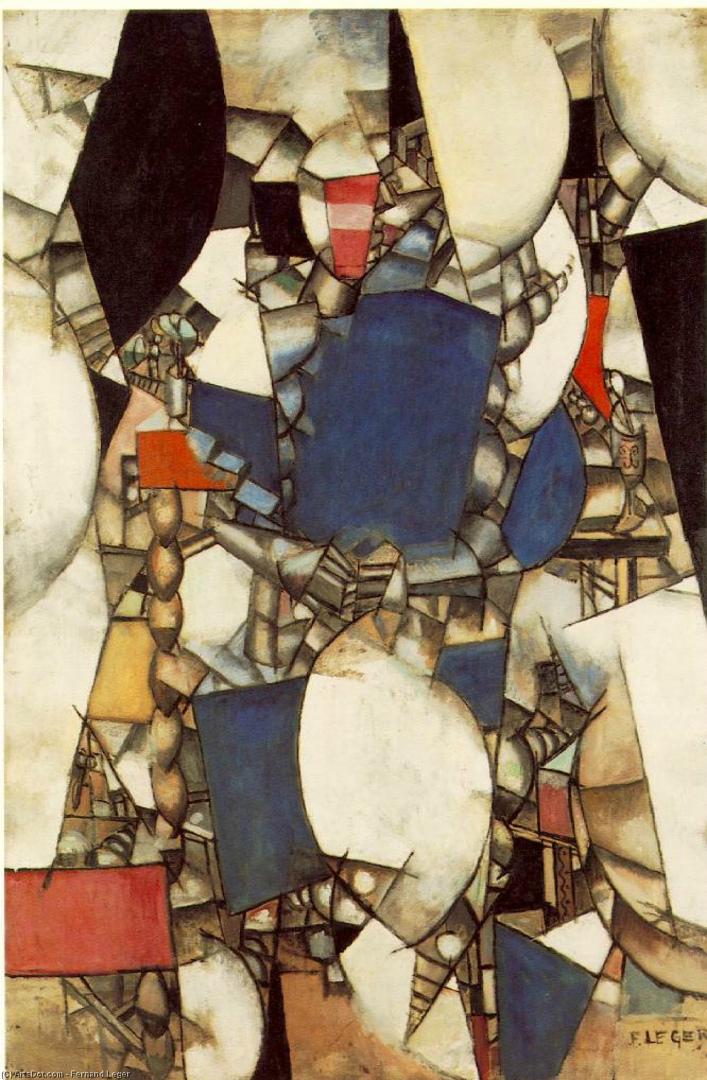 Женщина в синем. 1912