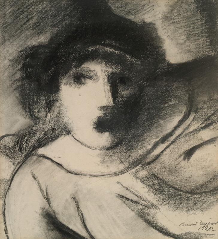 Женская фигура по пояс. Деталь к композиции «Восстание». 1920