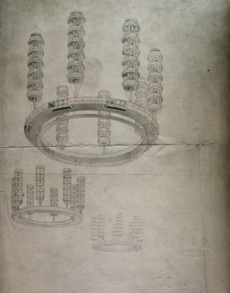 Жилой комплекс «Трудовая коммуна». Проект «Город будущего». 1928