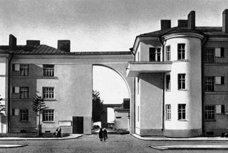 Жилой массив на ул. Тракторной в Ленинграде. 1925–1927