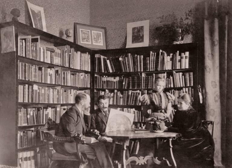 Аби Варбург, Мэри Варбург и Элиза Брокхаус на квартире Варбургов во Флоренции. 1897
