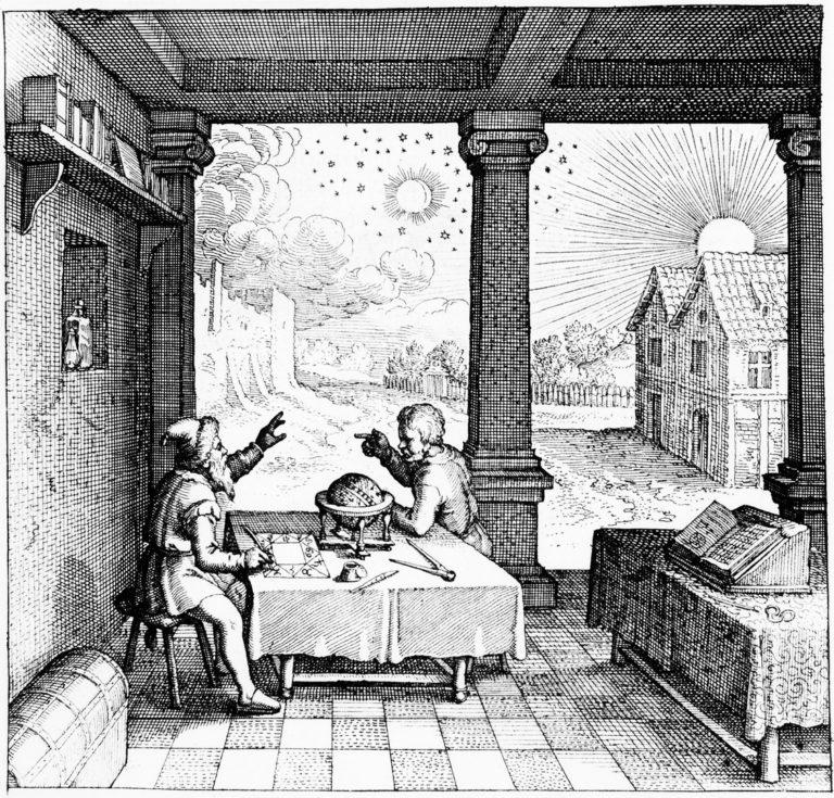 Астролог составляет гороскоп