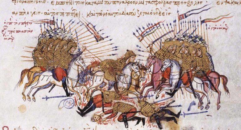 Битва между арабами и византийцами. XIII в.