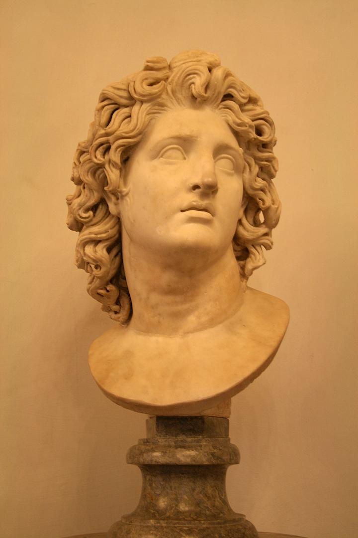 Бюст Александр Македонского в образе солнечного божества Гелиоса. III–II вв. до н.э.