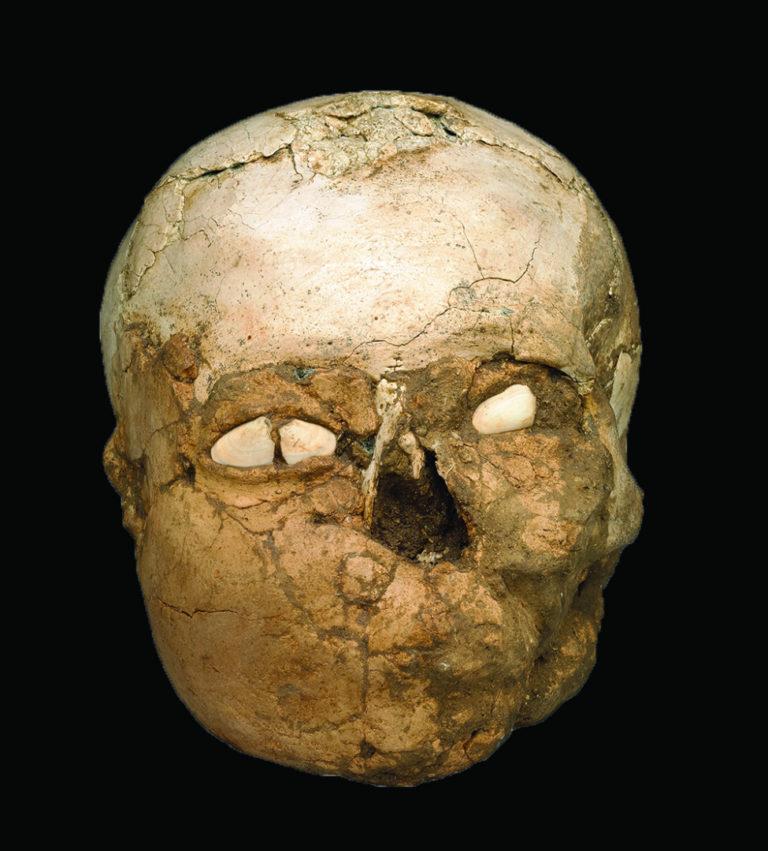 Человеческий череп, найденный Кэтлин Кеньон в Иерихоне. 8200–7500 гг. до н.э.
