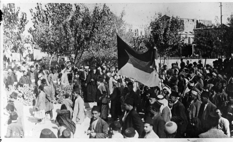Движение за независимость в Сирии. Демонстрации на улицах Дамаска. 1920