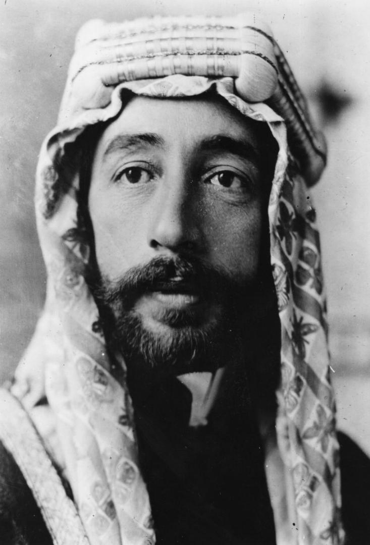 Фейсал I ибн Хусейн (1883–1933), первый король Ирака (1921–1933), первый и последний король Сирии (1920)