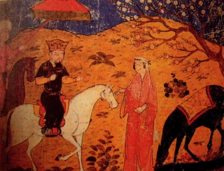Газан на коне. XIV в.