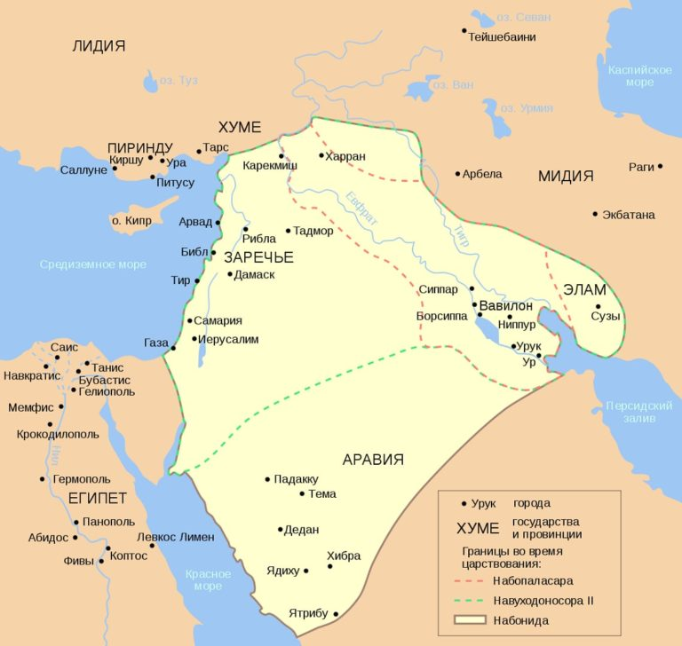 Карта Нововавилонского царства