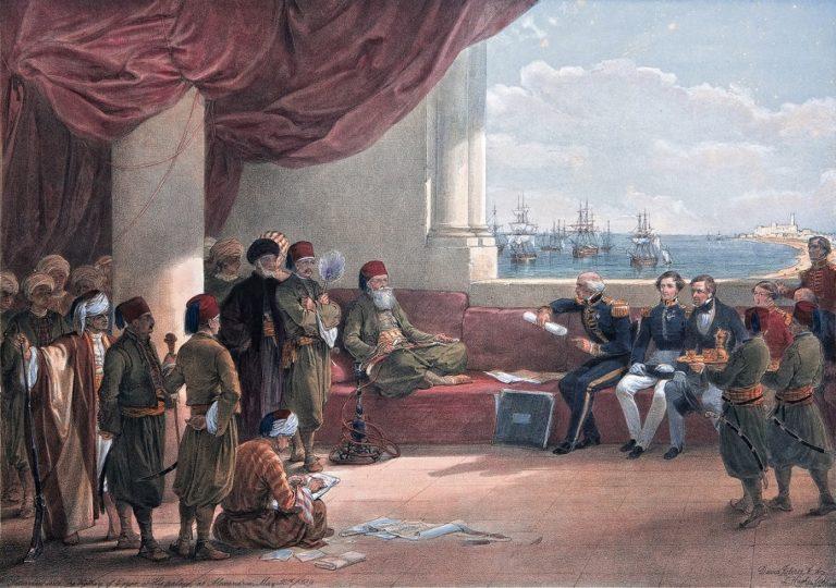 Муххамед Али принимает британских послов в Каире. 1839