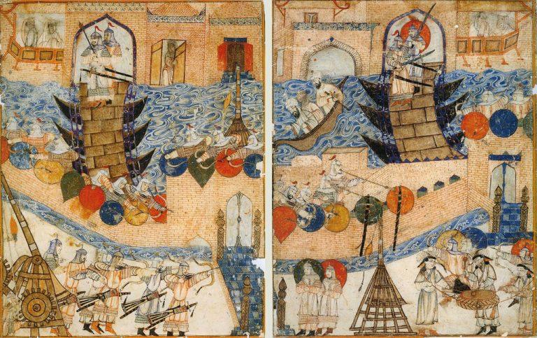 Осада Багдада монголами. XIV в.