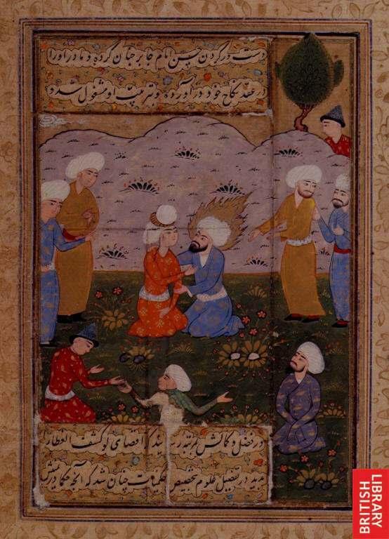 Отец Исмаила, Джафар ас-Садик, со своими учениками