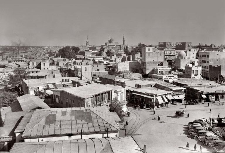 Панорама Дамаска. Фото 1940-х гг.