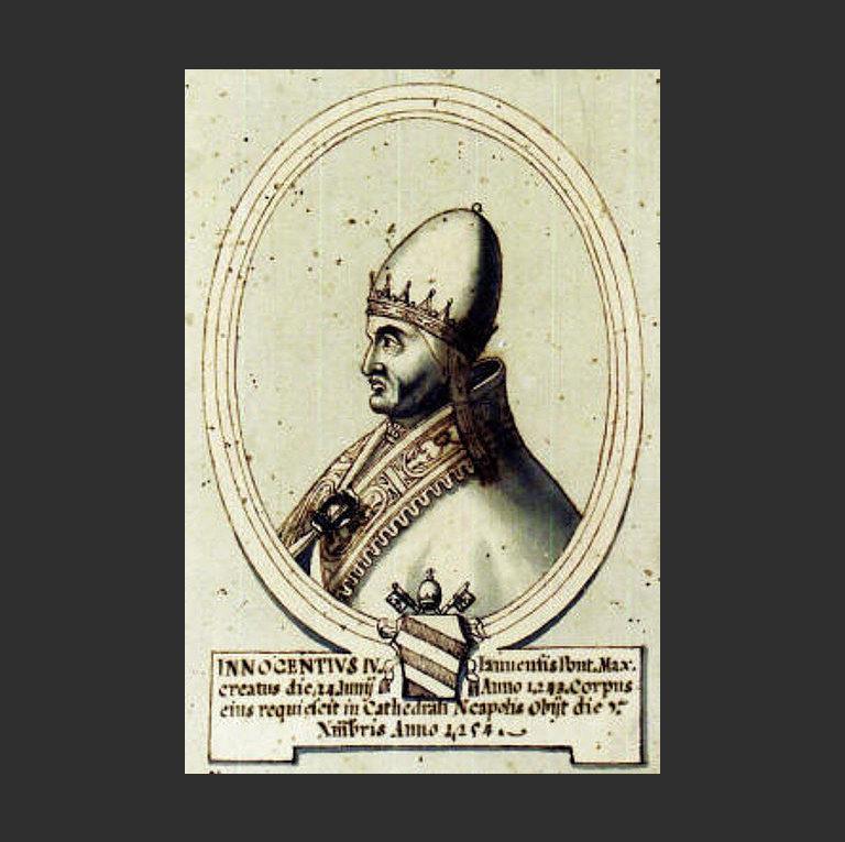 Папа Римский Иннокентий IV (1195-1254). Рисунок XVII в.