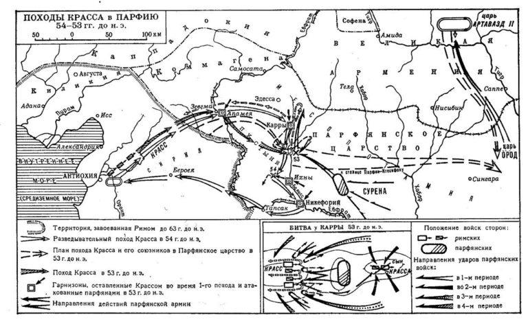 Походы Красса в Парфию в 54–53 гг. до н.э.