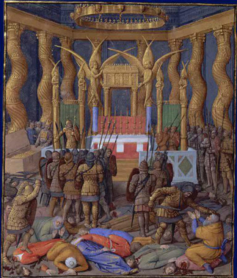 Помпей входит в Иерусалимский храм. Ок. 1470