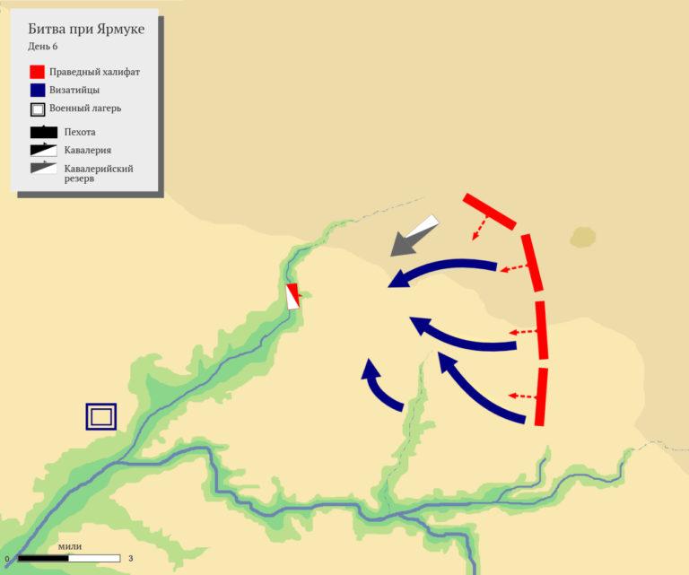 Последняя фаза битвы при Ярмуке в 636 г.