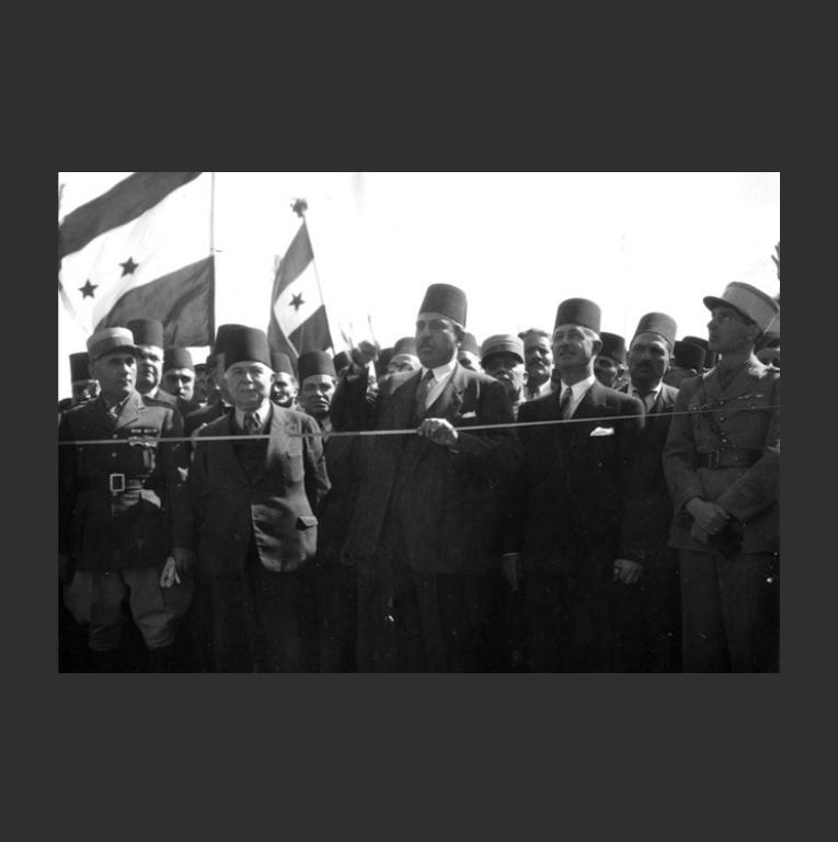 Празднование дня независимости Сирии в 1946 г.