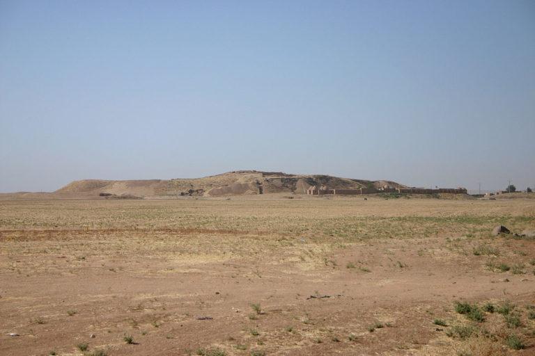 Раскопки в Тель Байдаре, Эль-Хасака. Вид с севера