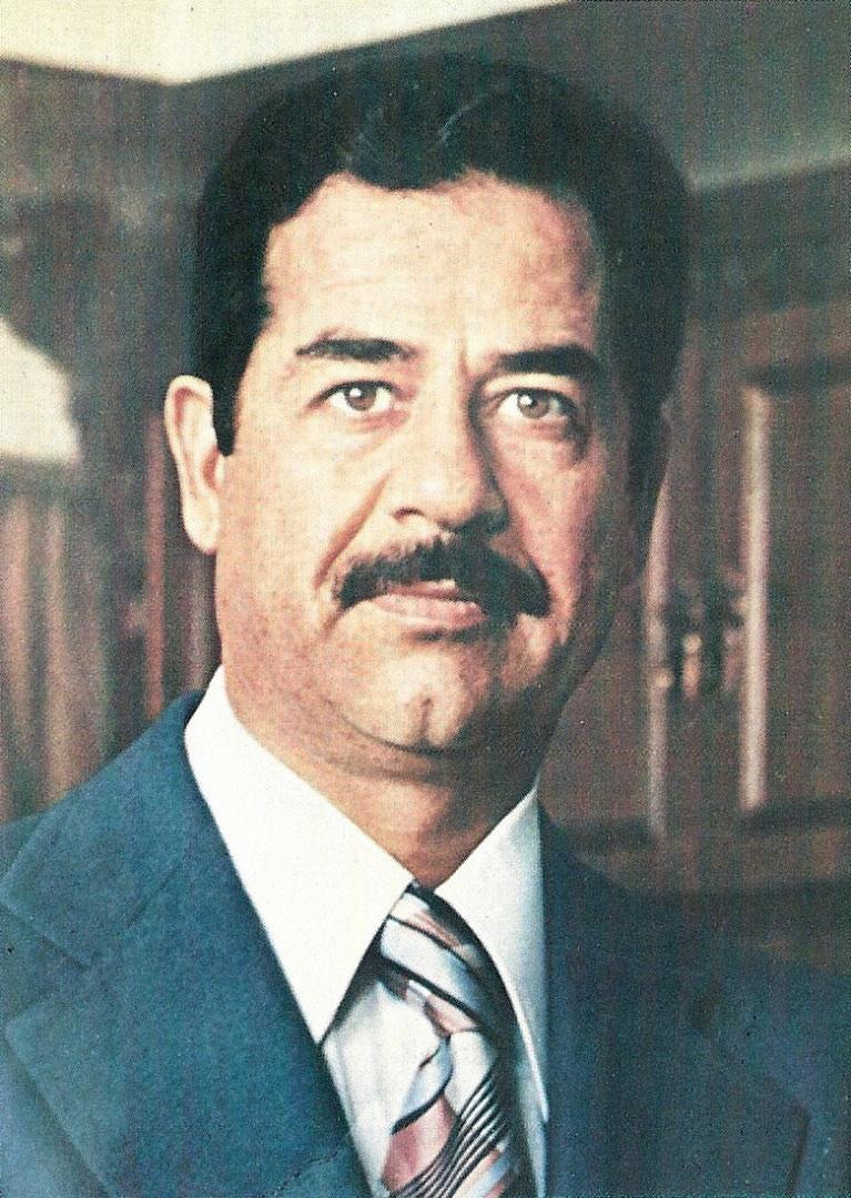 Саддам Хусейн Абд аль-Маджид ат-Тикрити (1937–2006), президент Ирака (1979–2003). 1979