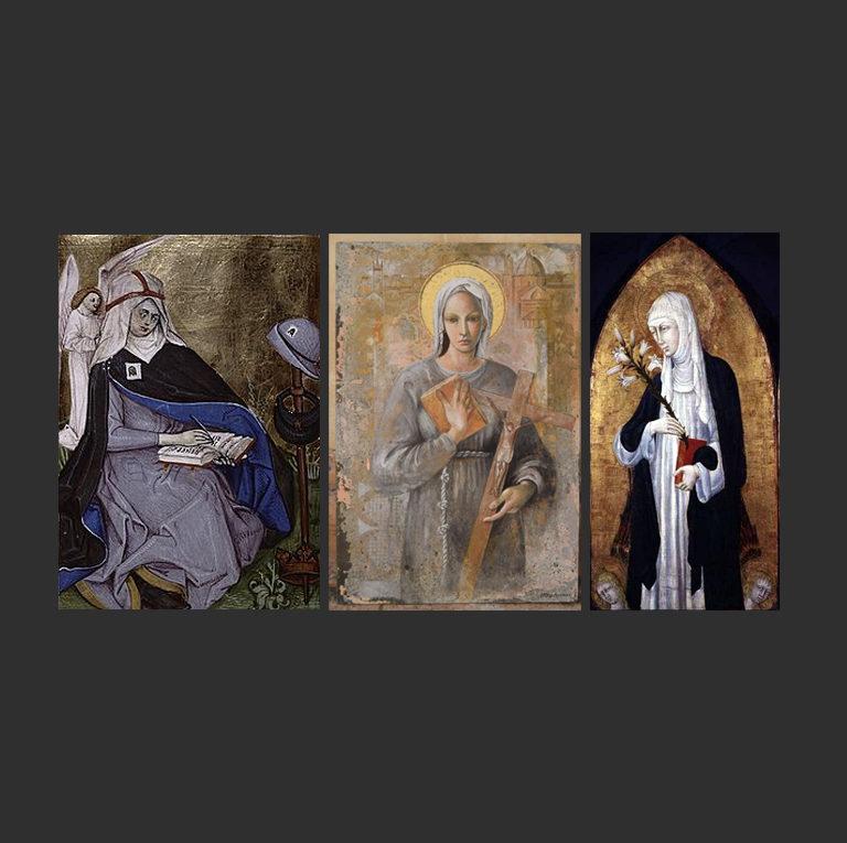 Св. Бригитта Шведская (1303—1373), св. Анджела из Фолиньо (1248—1309), св. Екатерина Сиенская, (1347—1380)